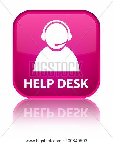 Help Desk (customer Care Icon) Special Pink Square Button