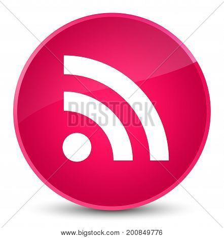 Rss Icon Elegant Pink Round Button