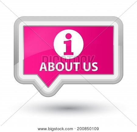 About Us Prime Pink Banner Button