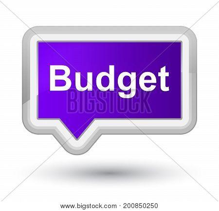 Budget Prime Purple Banner Button