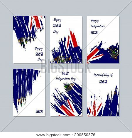 Sgssi Patriotic Cards For National Day. Expressive Brush Stroke In National Flag Colors On White Car
