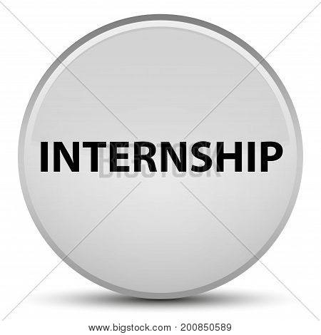 Internship Special White Round Button