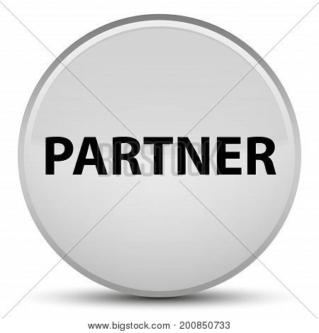 Partner Special White Round Button