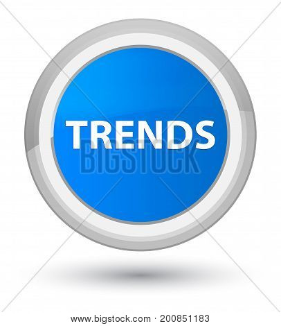 Trends Prime Cyan Blue Round Button