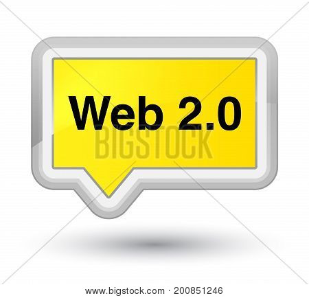 Web 2.0 Prime Yellow Banner Button