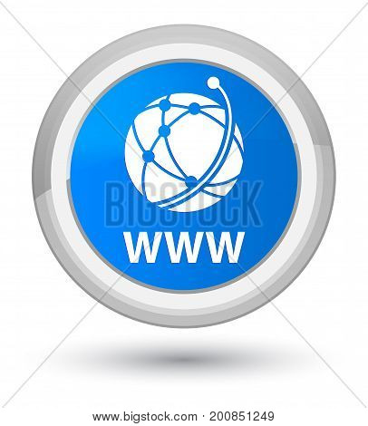 Www (global Network Icon) Prime Cyan Blue Round Button