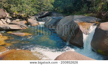 A beautiful tourist place at Babinda Boulders which is near Cairns Australia