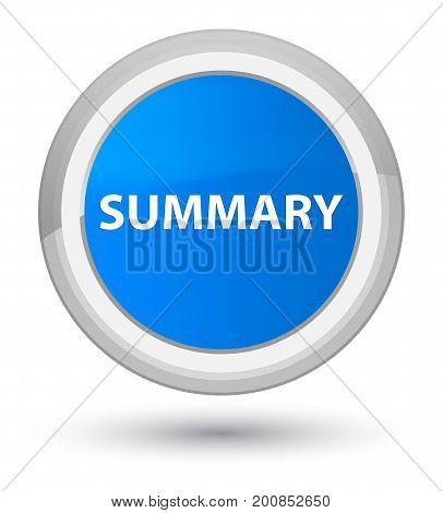 Summary Prime Cyan Blue Round Button