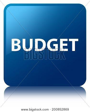 Budget Blue Square Button