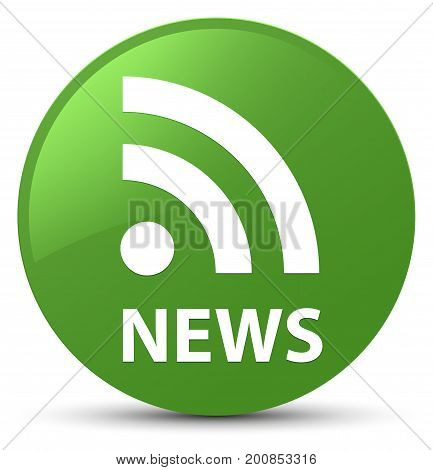 News (rss Icon) Soft Green Round Button