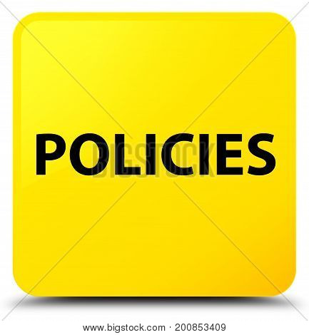 Policies Yellow Square Button