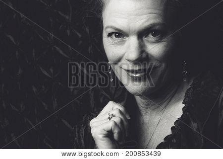 Beautiful smiling older senior woman