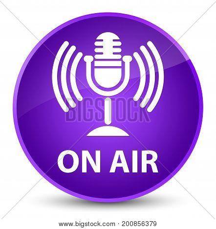 On Air (mic Icon) Elegant Purple Round Button