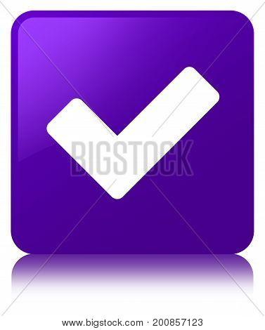 Validate Icon Purple Square Button