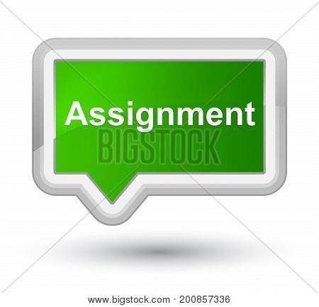 Assignment Prime Green Banner Button