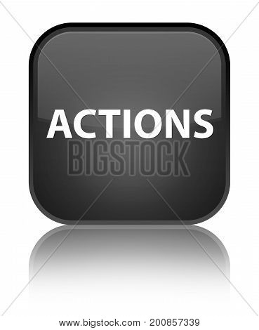 Actions Special Black Square Button