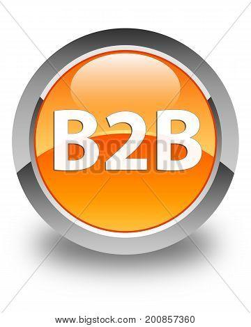 B2B Glossy Orange Round Button