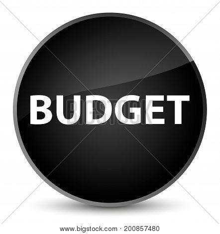 Budget Elegant Black Round Button