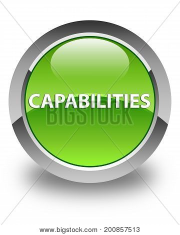 Capabilities Glossy Green Round Button
