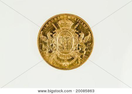 Mexico 20 peso gold coin of Maximillian I