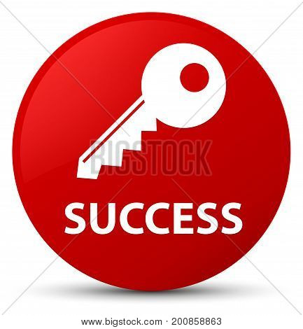 Success (key Icon) Red Round Button