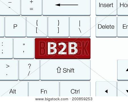 B2B Brown Keyboard Button
