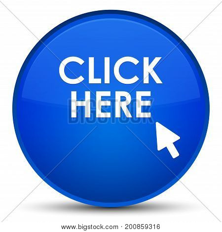 Click Here Special Blue Round Button