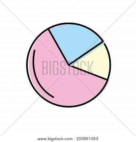 statistics diagram graphy to business presentation vector illustration