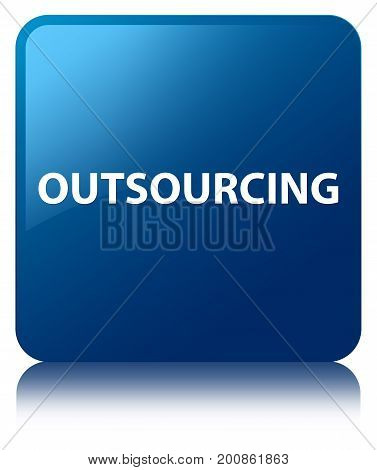 Outsourcing Blue Square Button