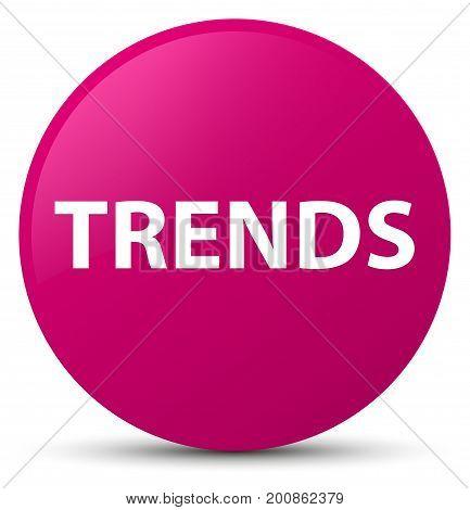 Trends Pink Round Button