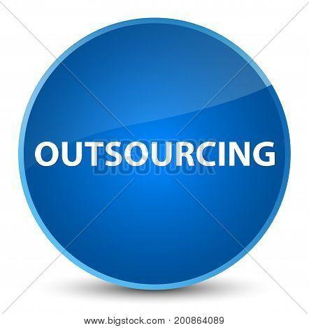 Outsourcing Elegant Blue Round Button