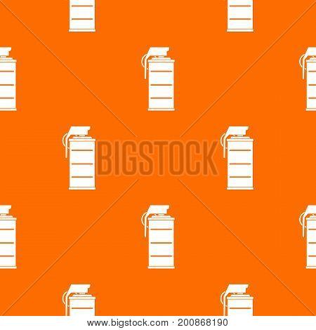 Stun grenade pattern repeat seamless in orange color for any design. Vector geometric illustration