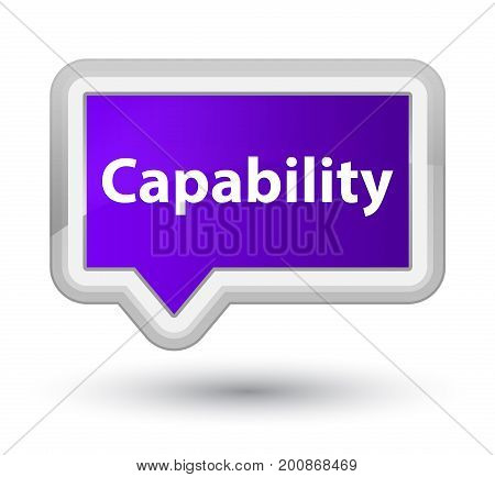 Capability Prime Purple Banner Button