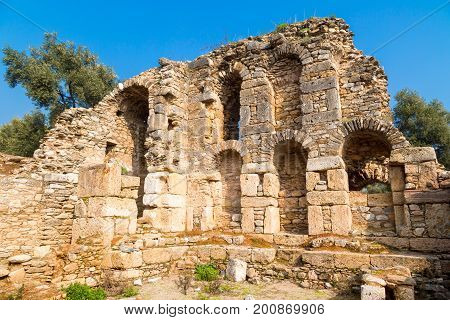 Library Of Nysa Ancient City