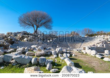 Theatre Ruins On Teos Ancient City