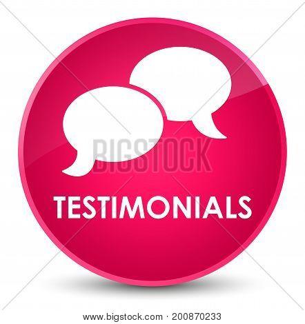 Testimonials (chat Icon) Elegant Pink Round Button