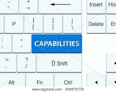 Capabilities Blue Keyboard Button