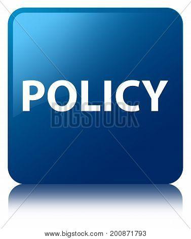 Policy Blue Square Button