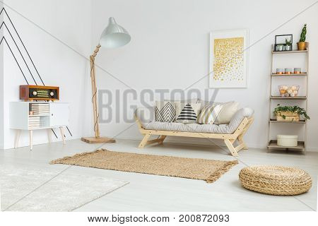 Designed Interior With Brown Carpet