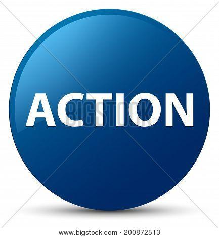 Action Blue Round Button