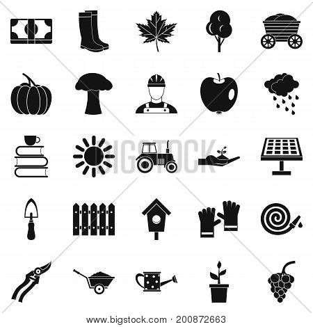 Ranch icons set. Simple set of 25 ranch vector icons for web isolated on white background
