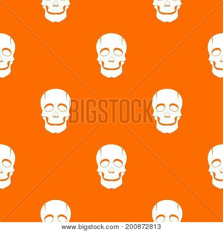 Singer mask pattern repeat seamless in orange color for any design. Vector geometric illustration