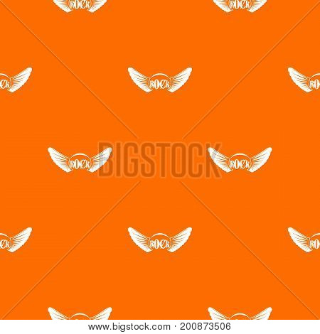 Rock pattern repeat seamless in orange color for any design. Vector geometric illustration