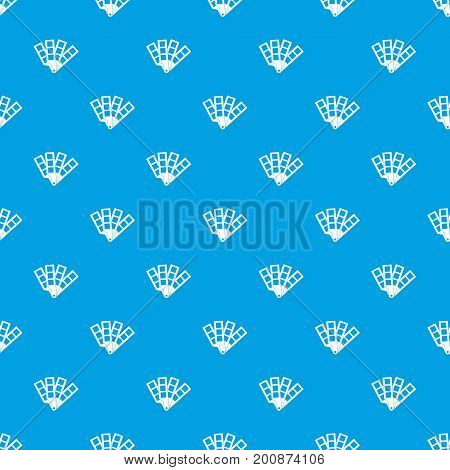 Color palette guide pattern repeat seamless in blue color for any design. Vector geometric illustration