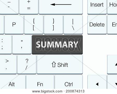 Summary Black Keyboard Button
