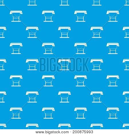 Large format inkjet printer pattern repeat seamless in blue color for any design. Vector geometric illustration