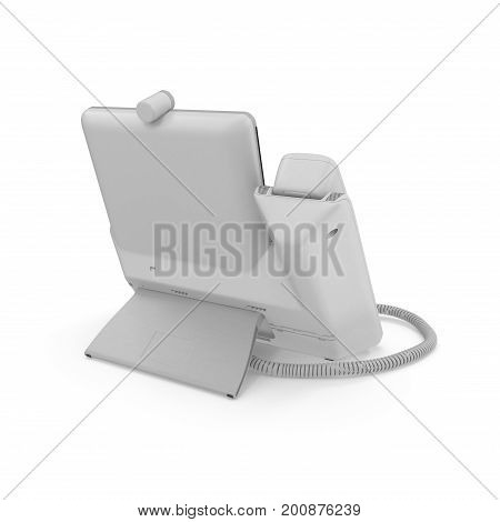 Office Phone - IP Phone technology for business on a white background. 3D illustration