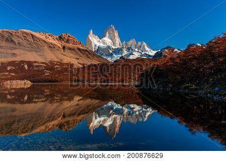 Lake Capri, Fitz Roy Mountain, El Chalten, Patagonia Argentina