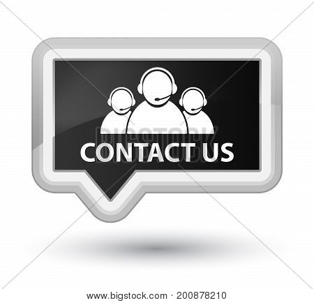 Contact Us (customer Care Team Icon) Prime Black Banner Button