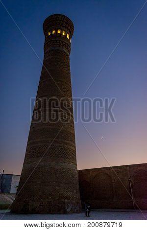 Kalyan Minaret At Night, Bukhara